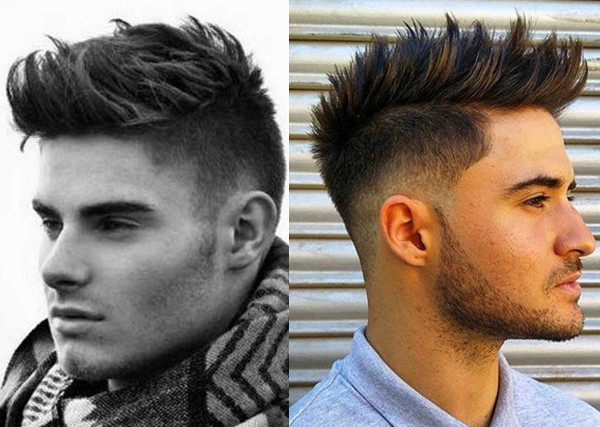 Corte de pelo con copete para hombre