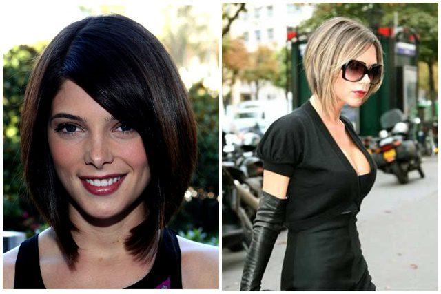 Corte de pelo concavo largo