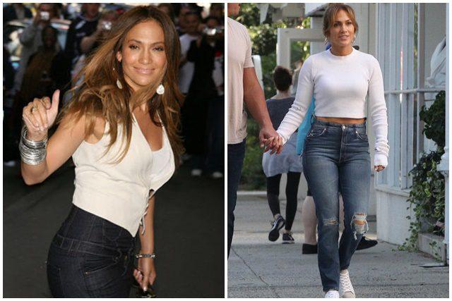 10 maneras de usar jeans al estilo de Jennifer López - Magazine de moda 179725674f9e
