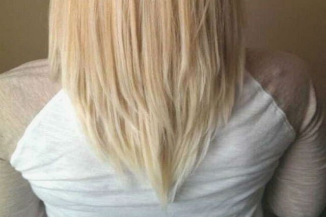 Corte de pelo en uve
