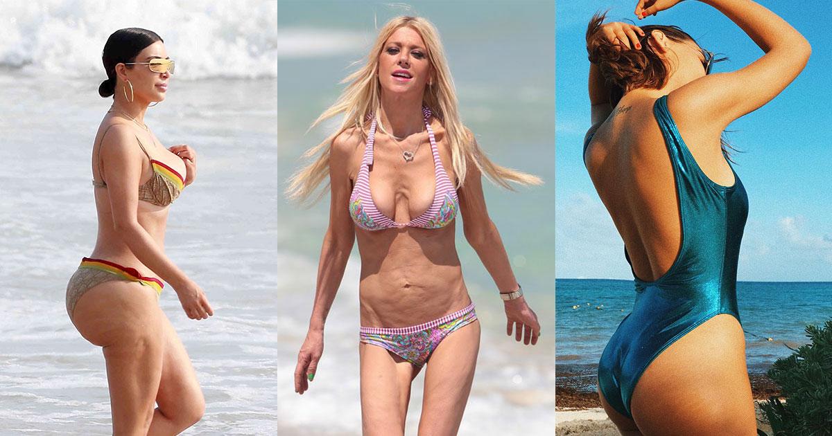 3e733fa04a58 9 celebridades criticadas por sus fotos en traje de baño